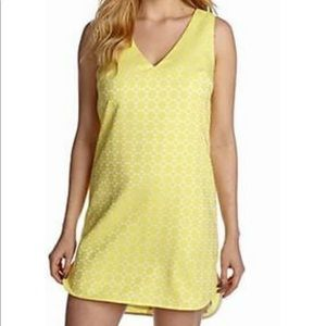 Piper lime Yellow textured shift dress vintage